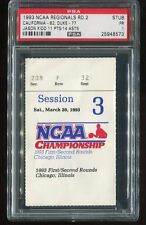 1993 NCAA Regionals Basketball Ticket Cal Upsets Duke Bobby Hurley Last GM PSA