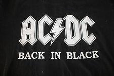 ACDC Back in Black Men's T Shirt Size Medium
