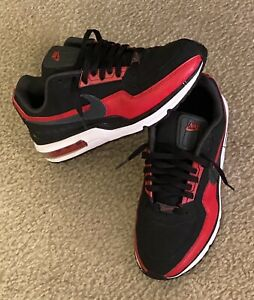 NIKE AIR MAX LTD 3 BLACK / RED LEATHER 2015 MENS SIZE 9.5 687977- 006