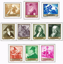 Spain Arts series Prado set #1 Goya Famous Paintings stamps 1958 MLH