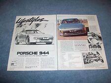 1984 Porsche 944 Vintage New Car Info Article