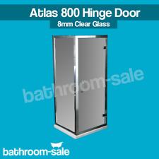 Atlas 800 Bathroom Hinge Door Chrome Frame & Clear Glass - Bathstor | RRP: £419