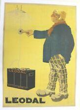 affiche ancienne BATTERIE LEODAL BELGE 1918 Francis DELAMARE clin d'oeil à MICH