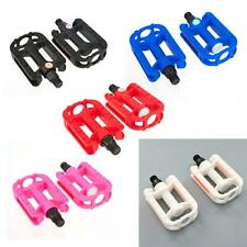 "KIDS BIKE PEDALS - in Black White Pink Red Blue (9/16"" Thread) Childrens Bicycle"