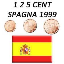 1 + 2 + 5 CENT 1999 SPAGNA ESPAÑA SPANIEN SPAIN ESPAGNE - FDC UNC DA ROTOLINO