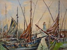 Paul Henry LAFON (XIX-XX) Vue présumée de Quiberon Morbihan Bretagne Marine