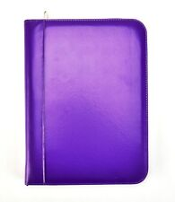 Purple A4 Deluxe Leather Look Business Conference Ring Binder Portfolio CL-731PE