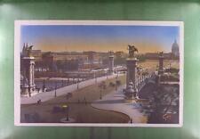 CPA France 1930 Paris et Ses Merveilles Bridge Brücke Pont Auto Car f9