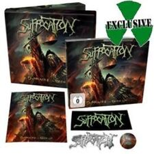 Suffocation Pinnacle of Bedlam cd box set w/ dvd metal pin sticker patch button