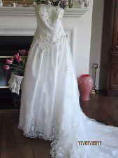 Mori Lee Wedding Dress Strapless huge train Sz. 16 - BEAUTIFUL !!!