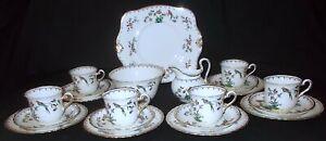 Plant Tuscan China BIRD & FLORAL # 9143 21 Piece Tea Set