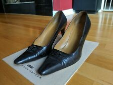 Gucci Womens High Heel Pumps Black Brown Leather Size 8 B