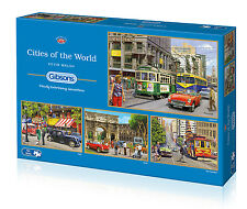 Gibsons - 4 X 500 PIECE JIGSAW PUZZLES - Cities Of The World