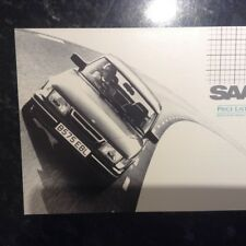 SAAB 90, 900, 900 TURBO,900 TURBO 16 AND 16S MODELS PRICE LIST BROCHURE FOR 1985