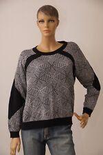 Damen Pullover C & A Winter Langarm schwarz weiß Größe XL (1711N-OH3)