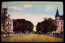 SHERBROOKE ST LOOKING EAST OF ST DENIS ST MONTREAL CANADA POST CARD 1910 #930