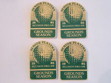 "Vintage (4) 1985 Reunion Pro-Am Gounds Season Pinbacks - 3"" X 2"" Tub C"