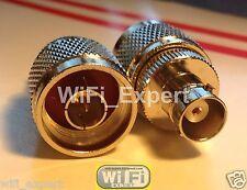 N Male Jack to BNC Female plug RF coaxial Adapter RF Connector USA