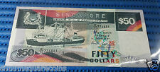 Singapore Ship Series $50 Note Dollar Currency (Price Per Piece, Random Numbers)