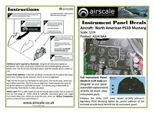 Airscale 1/24 NA P51D Mustang Instrument Panel decal 2404 (N)