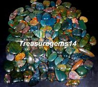 250 Crt WHOLESALE LOT NATURAL RED GREEN DOTS BLOODSTONE JASPER CABOCHON GEMSTONE