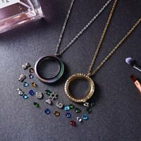 Stainless Steel Living Memory Floating Charm Glass Locket Pendant Necklace New