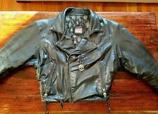 BILL WALL LEATHER 1990 CLASSIC MOTORCYCLE JACKET Excellent Condition!! Large