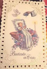 12 Spanish Baptism Bautizo Holy Lace Card favors from Italy