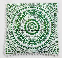 New! Indian Cotton Ombre Mandala Design Cushion Cover Pillow Sham Ethnic Throw