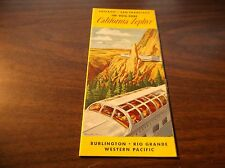 OCTOBER 1959 WESTERN PACIFIC CB&Q/D&RGW/WP CALIFORNIA ZEPHYR ROUTE GUIDE