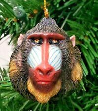 "Monkey Head Mandrill Christmas Ornament 2.5"" Slavic Treasures"