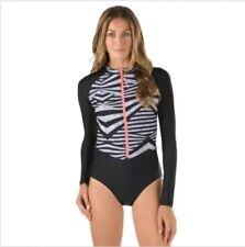 Womens Long Sleeve Speedo One piece Power Flex Eco Swimsuit, Size L New W