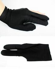 Pro Billiard Pool snooker Shooters 3 Fingers Glove Black, better grip & game,