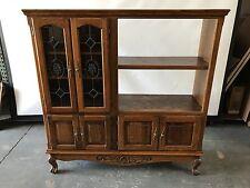 Wood Hutch Cabinet w/ Glass Doors (Vintage, 70s, Retro)