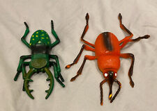 "Large size Insect Figure Toy Bundle Bugs Beetle Educational Orange Green 9"""