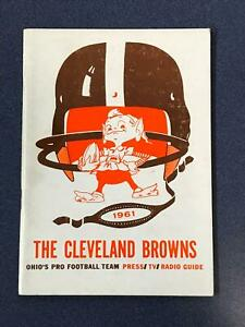 1961 Cleveland Browns Press TV Media Guide Nice condition (PL1)