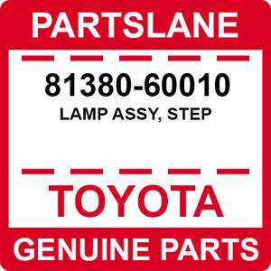 81380-60010 Toyota OEM Genuine LAMP ASSY, STEP