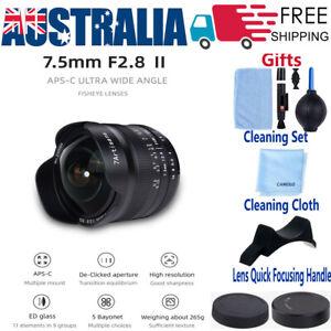 7artisans 7.5mm F2.8 Fisheye Lens MF for Fujifilm X Canon EF Sony E Nikon Z M4/3