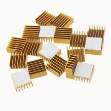 10Pcs Gold 14mm 14x14x6mm Aluminum Heatsink Adhesive For Memory RAM IC Chipset