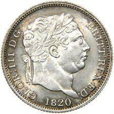 Great Britain, GEORGE III, 1760-1820, AR SHILLING, 1820, Lovely AU. Ex CNG.