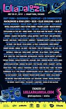 LOLLAPALOOZA CHICAGO 2016 CONCERT POSTER-Daft Punk,Radiohead,Coldplay,Snoop Dogg