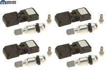 For Chrysler Dodge Jeep SRT Set of 4 TPMS Sensors with Screw in Valve Mopar