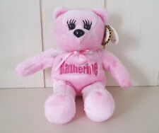 "Personalized ""KATHERINE"" Pink Celebrity Beanie Bean Bag Plush Gift Collectible"