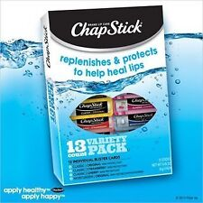 Chap Stick Lip Balm Variety Pack Assorted Flavors Original, Strawberry, Moist...