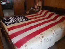 American Flag crochet pattern - afghan