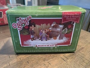 Dept 56 A Christmas Story Village: Bullies in the Alley-Retired & Rare Exclusive