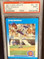 1987 Fleer Update Glossy Greg Maddux Rookie #U-68 Chicago Cubs RC PSA Mint 9 HOF