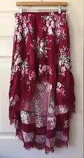 Express Floral Multicolor High Low Lace Skirt Size XS Extra Small Career