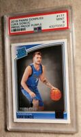 2018-19 LUKA DONCIC SP /199 Donruss Rated Rookie Press Proof Purple #177 PSA 9💎