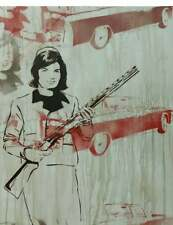 Jackie O painting, JFK art, pop art graffiti canvas, 60s art